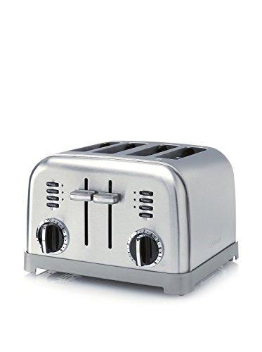 cuisinart electronic 4 rebanadas de acero tostadora