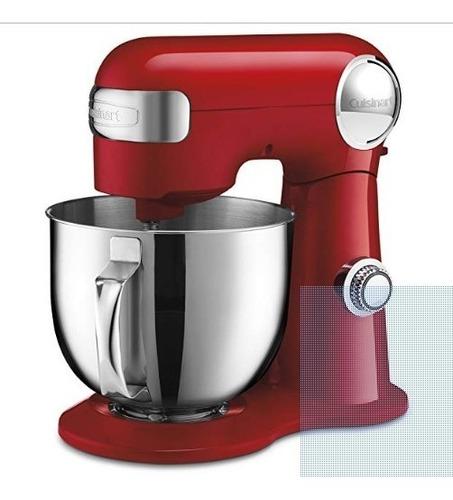 cuisinart precision master 5.5-quart stand mixer, red sm-50