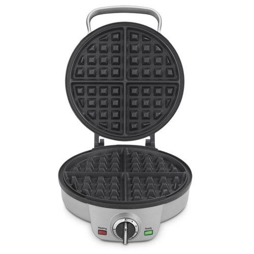 cuisinart waflera en acero cocina wafles pancakes plateada