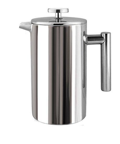 cuisinox cof-11 double walled coffee press, 1 litro
