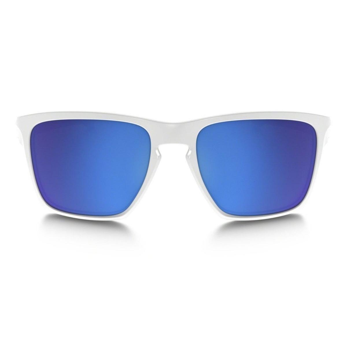 468eb28ee Òculos Oakley Sliver Xl White/sapphire Iridium * U S A * - R$ 499,99 ...