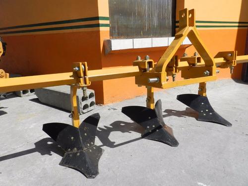 cultivadora surcador de 3 timones kelly para tractor
