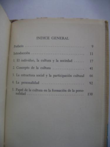cultura y personalidad / ralph linton / breviarios n° 145