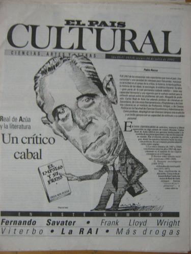 cultural 193, 1993, real de azúa y la literatura
