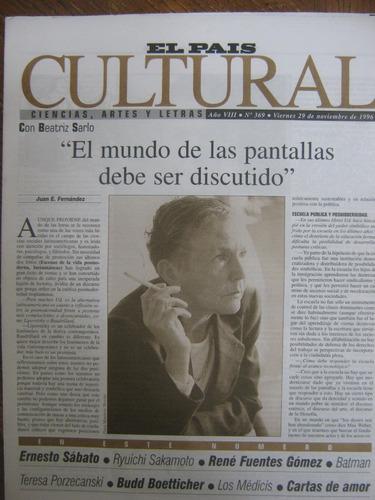 cultural 369, 1996, con beatriz sarlo