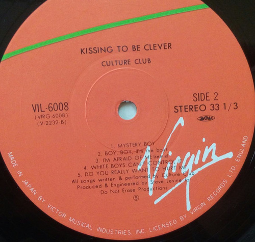 culture club vinyl kissing to be clever japones con obi