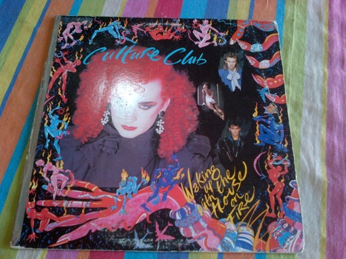 culture club. waking up with the house on fire. disco vinilo