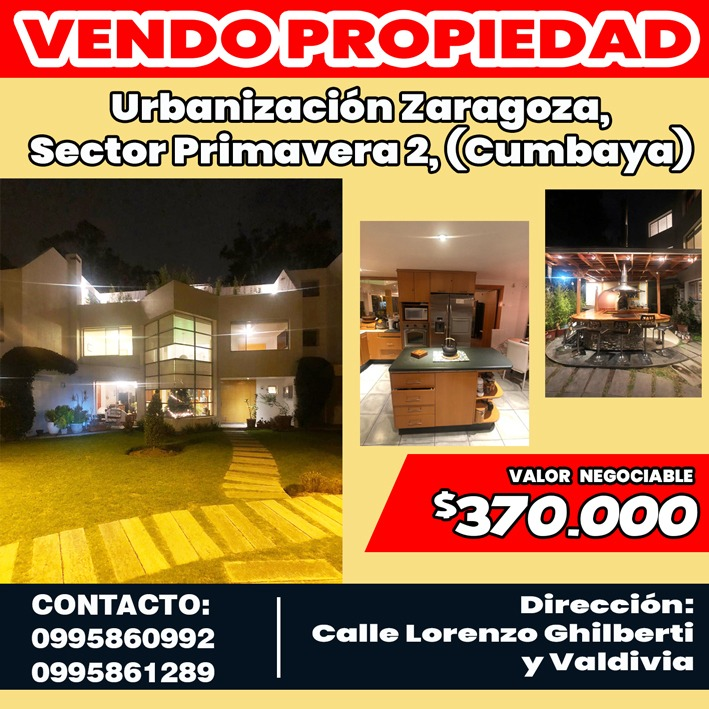 cumbaya - casa en venta