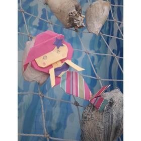 Cumple Bajo El Mar SirenitaSouvenir Sirenitas,papel,origami