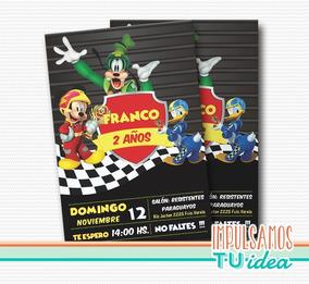 Cumple Mickey Sobre Ruedas Invitación Mickey Para Imprimir