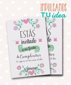 Cumple Nena Invitación Con Flores Para Imprimir