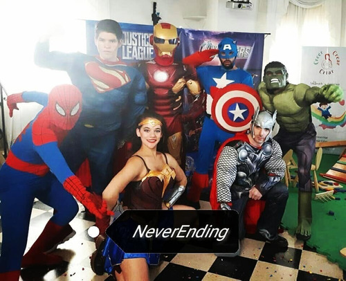 cumple virtual, video personaje,colonia superheroe, princesa