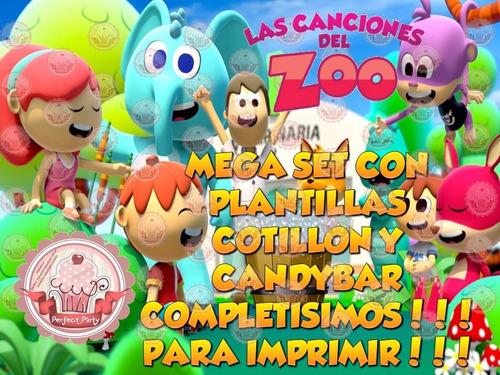 cumpleaños imprimible golosinas cotillon canciones zoo unico