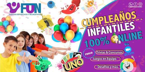 cumpleaños infantiles 100% online