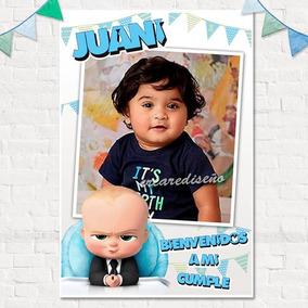 Cumpleaños Jefe En Pañales Baby Boss Cartel De Bienvenida