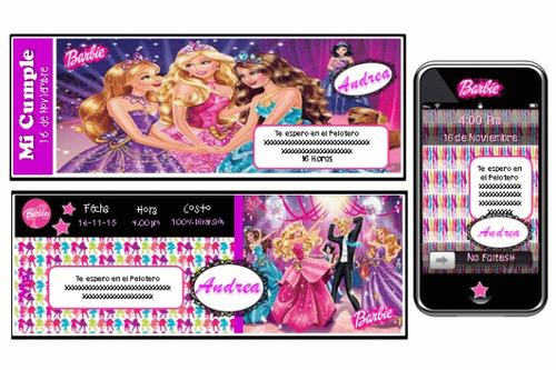 cumpleaños temático 100% personalizado de barbie