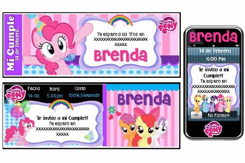 cumpleaños temático mi pequeño pony personalizado 100%