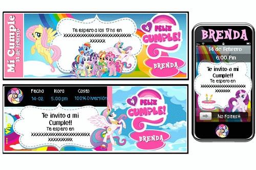 cumpleaños temático my little pony 100% personalizado