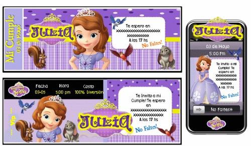 cumpleaños temático princesita sofía 100% personalizado