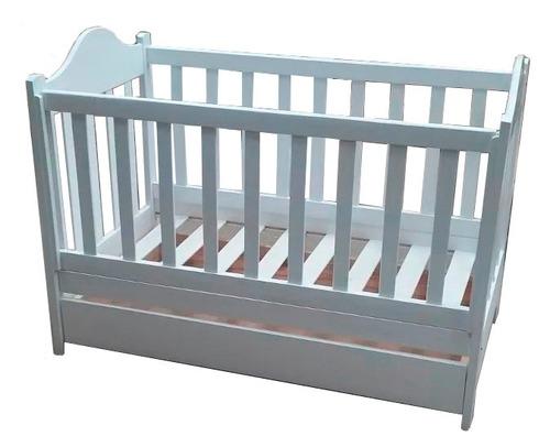 cuna bebe con cajon 1.20x0.60 - 100% madera ciprés laqueada