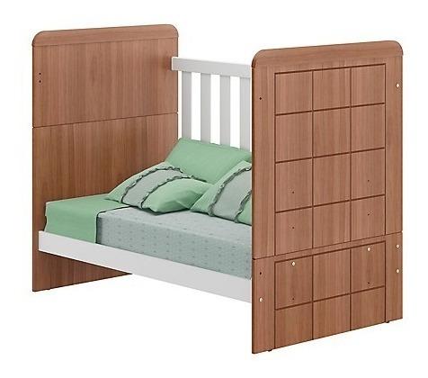 cuna cama 3x1 blanca/roble importado