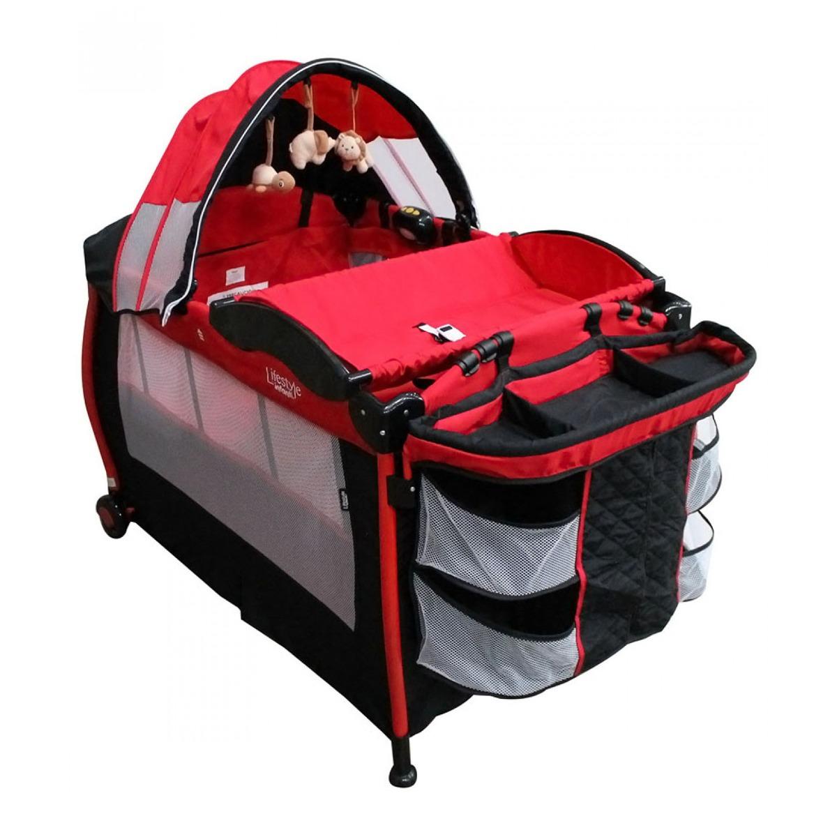 Cuna Cama Bebe Viaje Infanti Padres Ion Negro Rojo - $ 3,779.00 en ...