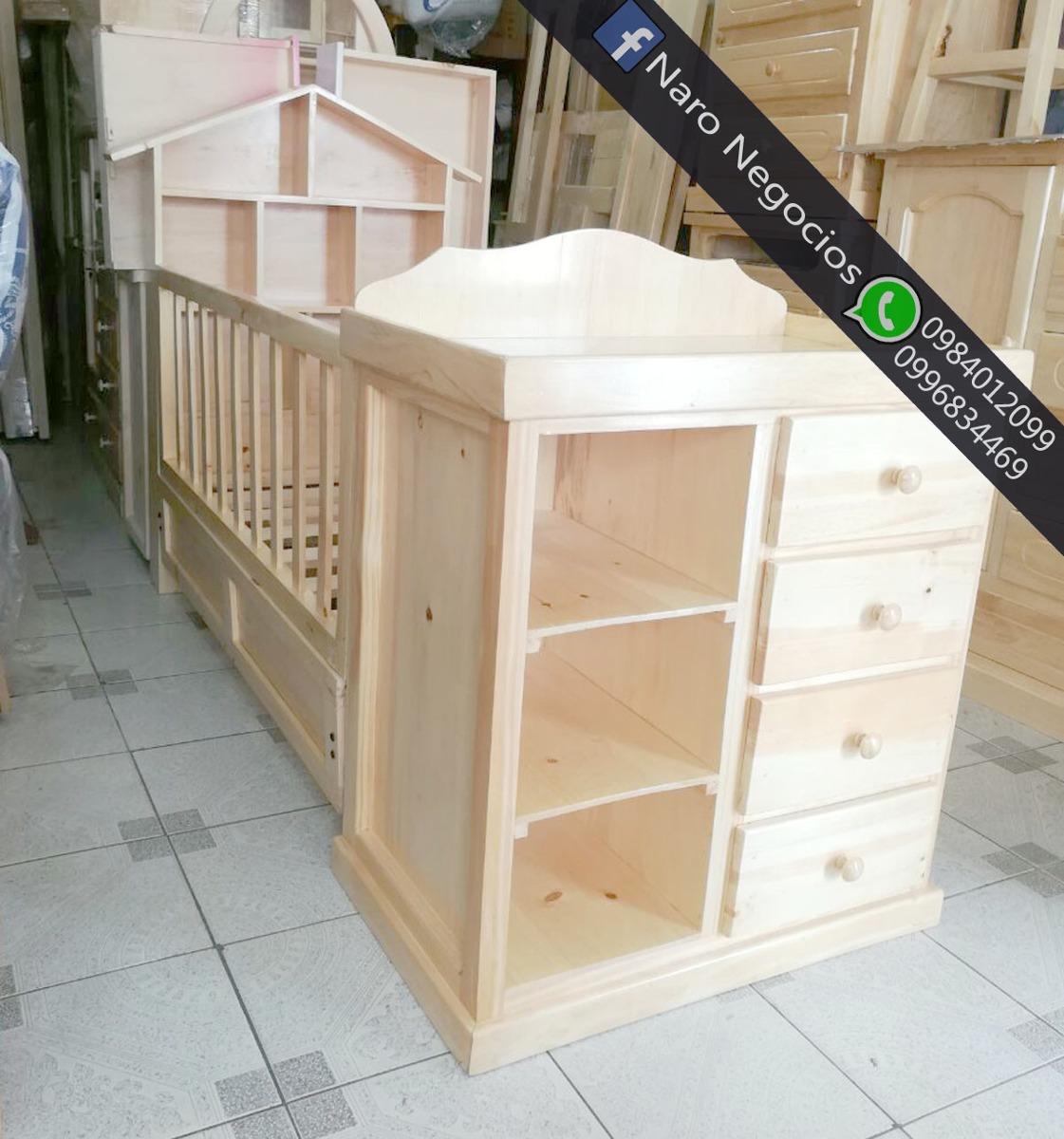 Cuna cama com cambiador para bebe ademas colchones muebles u s 197 00 en mercado libre - Colchon cambiador bebe medidas ...