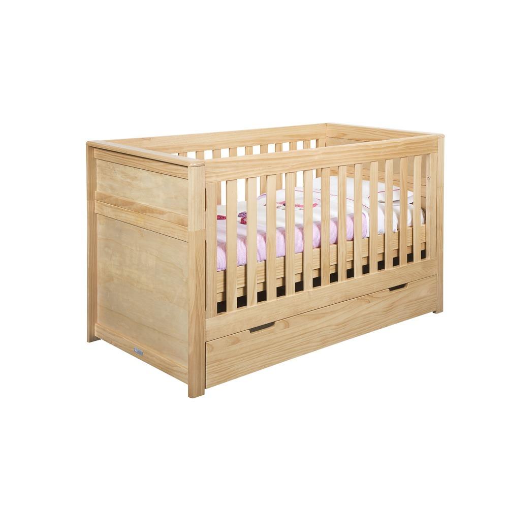 Cuna cama de madera infanti verona colch n for Cama y cuna