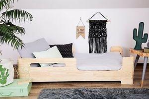 cuna cama nórdica escandinava doble altura madera maciza