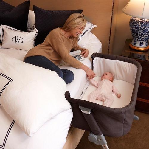cuna colecho para bebe marca bebesit doble nivel mosquitero
