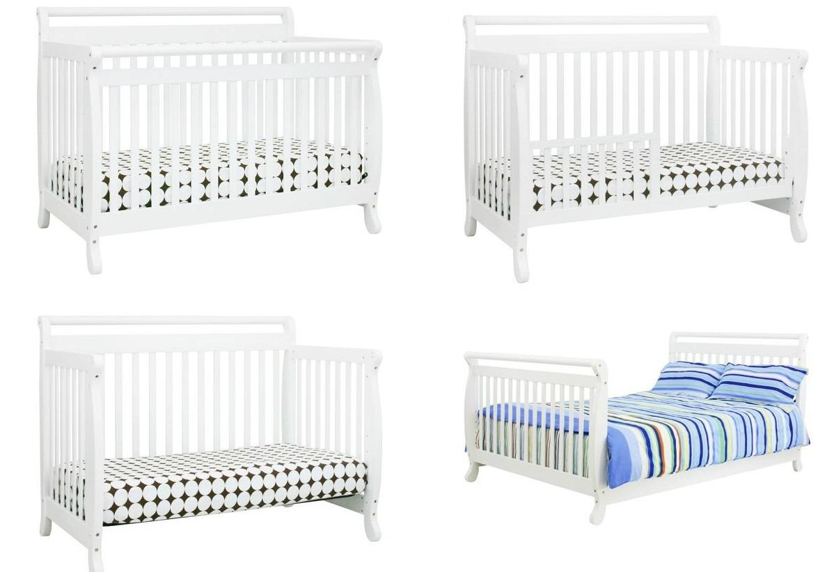 Perfecto Blanco 4 En 1 Muebles Cuna Convertible Patrón - Muebles ...