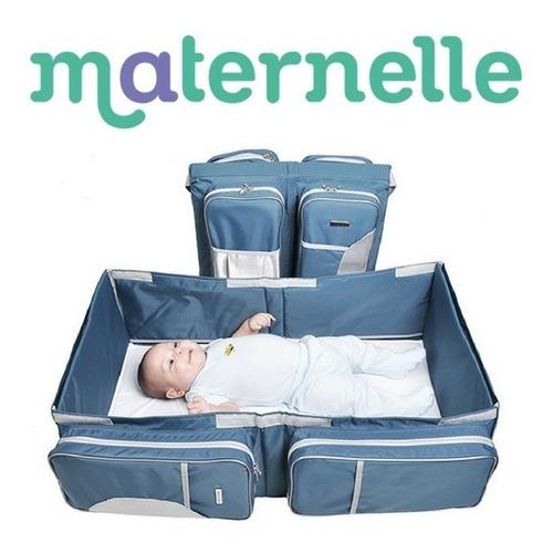 cuna convertible en bolso maletin pañalero maternelle