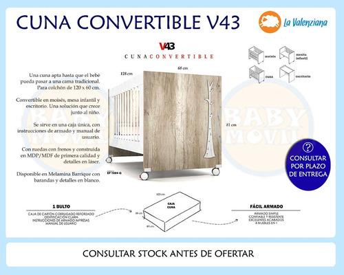 cuna convertible v43 + chifonier linnea valenziana combo!!