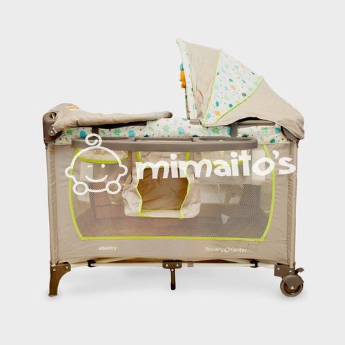 cuna corral para bebé ebaby 777 con organizador y cambiador