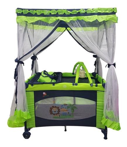 cuna corral para bebe tipo casita mecedor + bolso+ vibracion