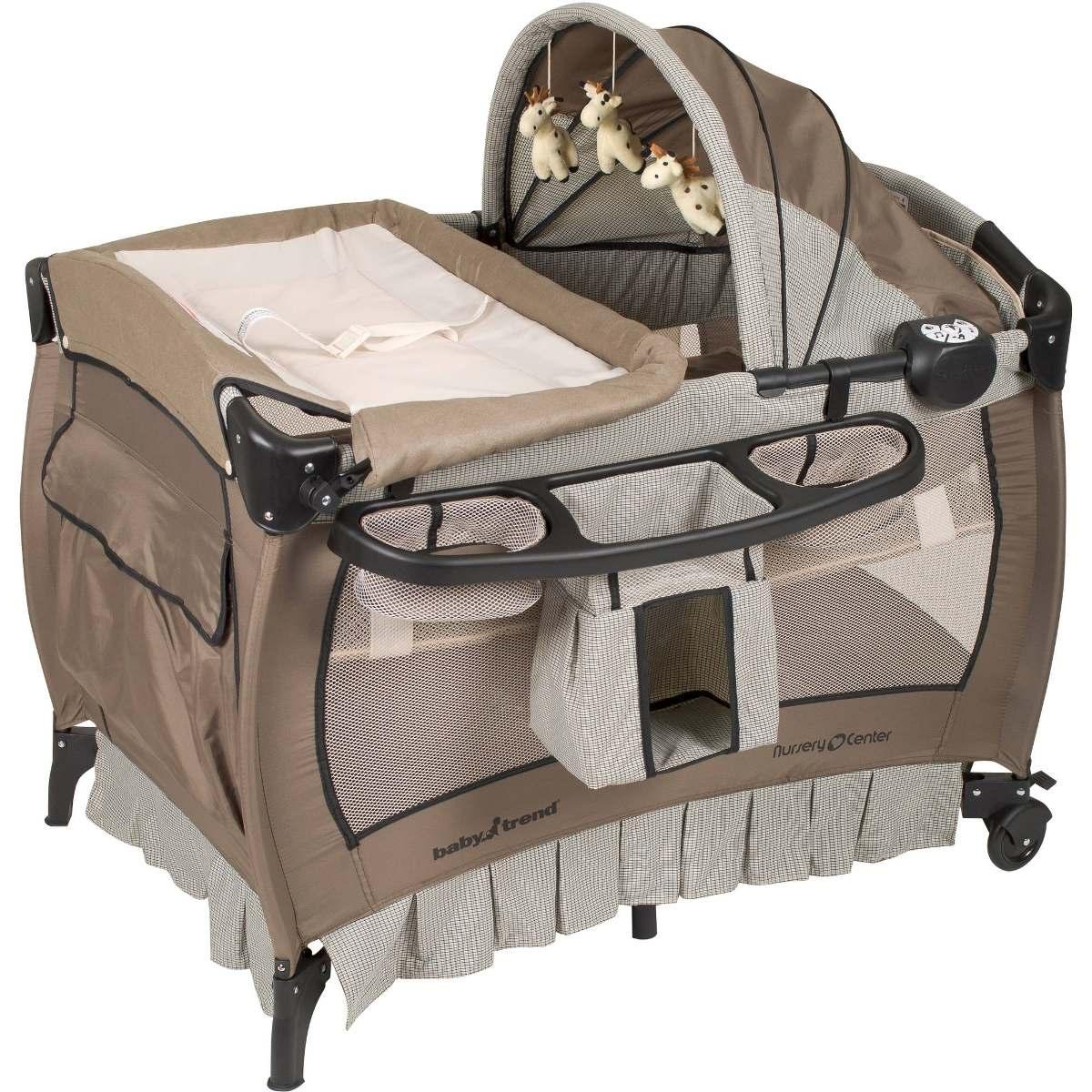 Cuna Corralito Baby Trend Cambiador Vibracion Musica Luz