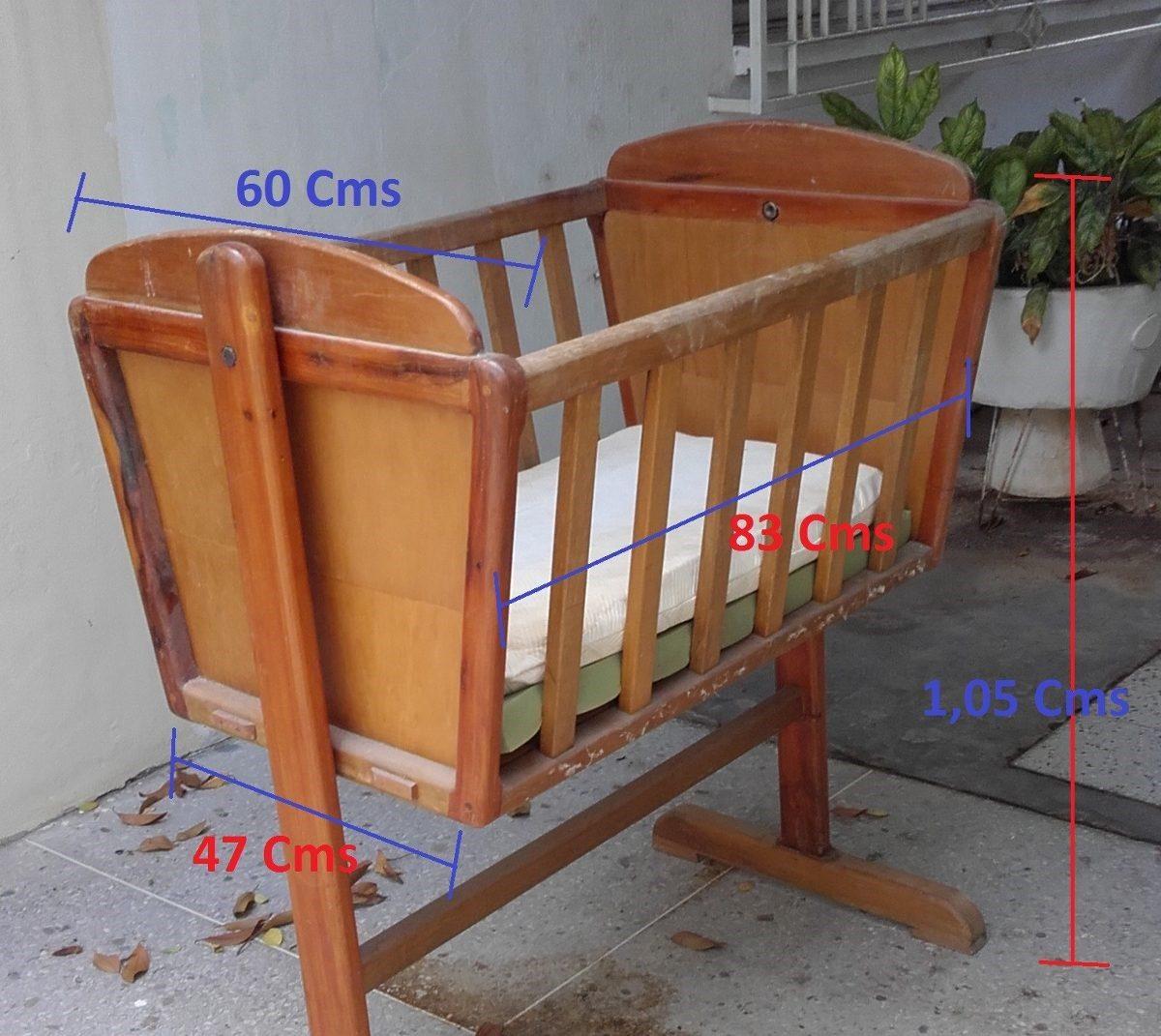 Cuna de madera para bebes usada bs en - Cunas rusticas para bebes ...