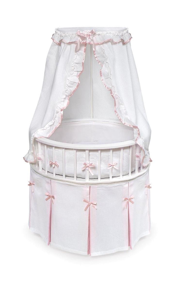 Cuna elegante para recien nacidos rosa con blanco - Cunas recien nacido ...