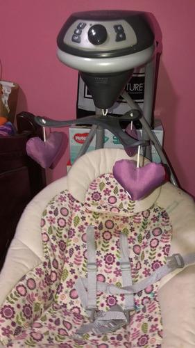 cuna encierro y silla mecedora eléctrica para bebé música