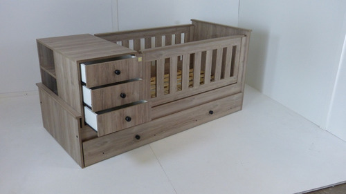 cuna funcional 18 mm madera tipo nordica cajones texturada+