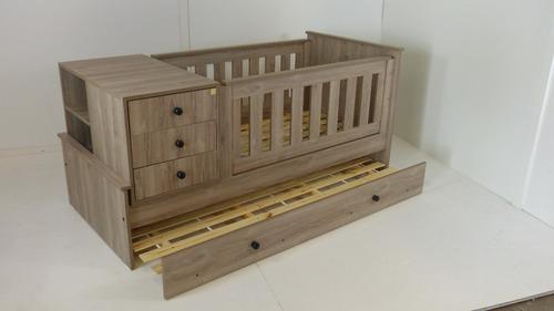 cuna funcional 18 mm madera tipo nordica melamina texturada