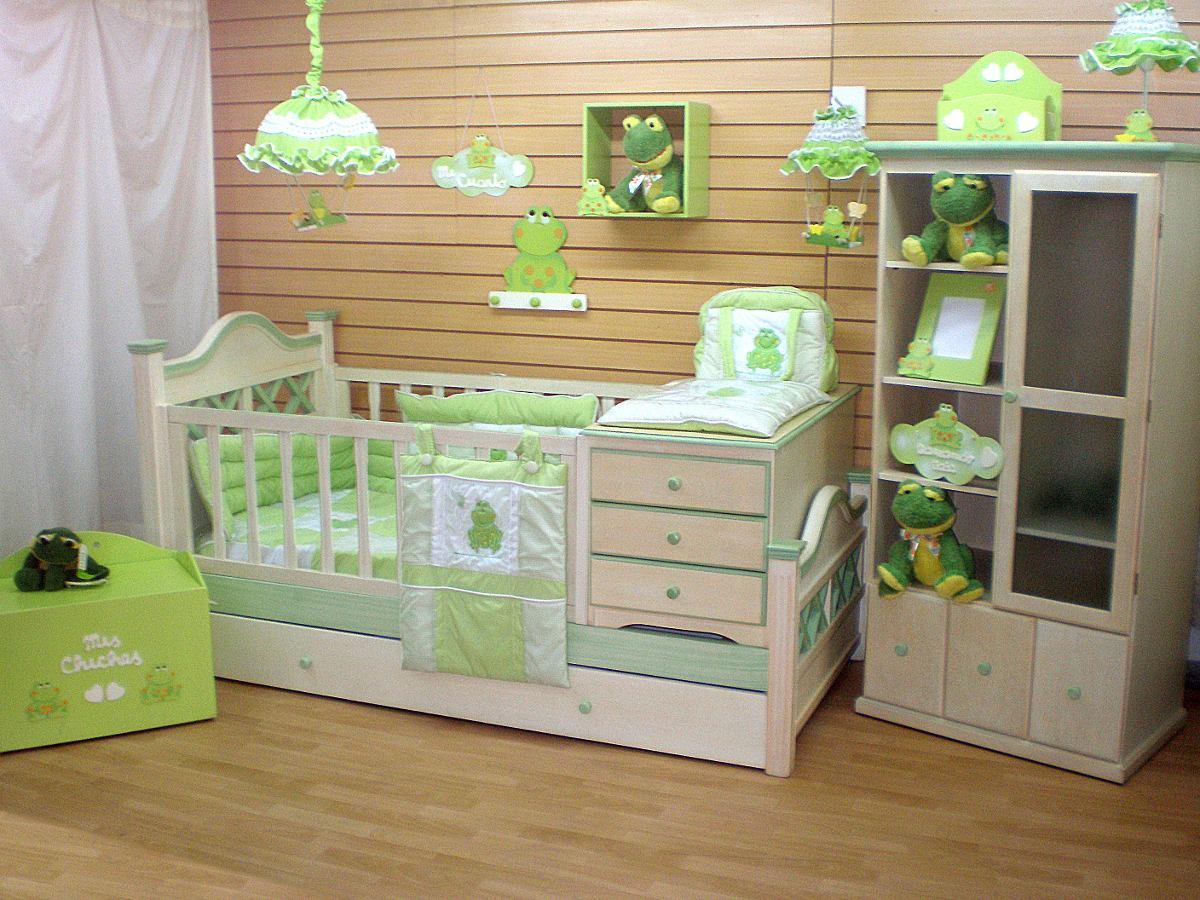 Cuna bebe madera muebles de bebe cuna cuja lacada nueva for Cunas para bebes de madera
