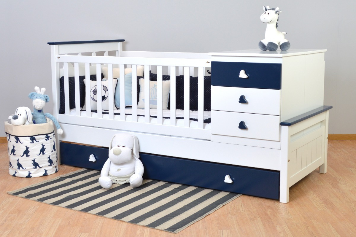 Cuna Funcional Con Barcos Color Azul -muebles Mas Chicos- - $ 22.590 ...