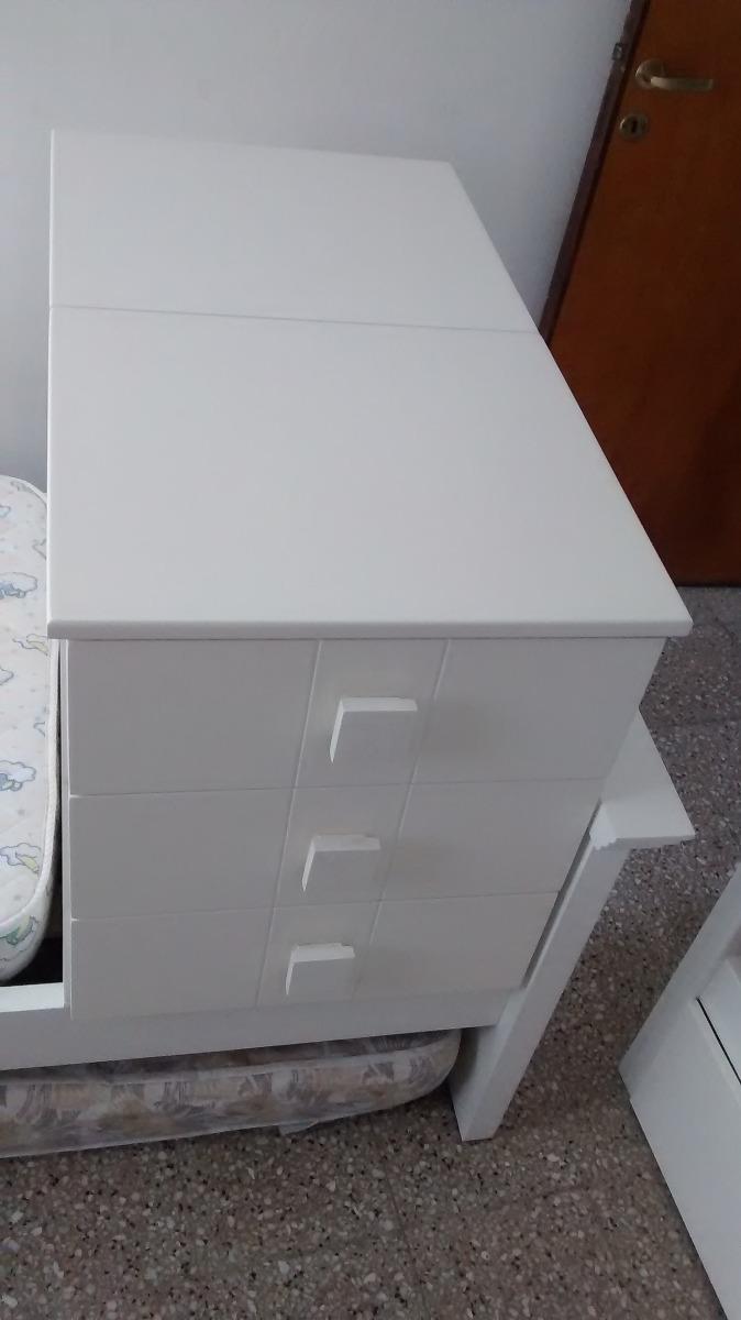 Cuna Funcional De Madera Blanca 7 000 00 En Mercado Libre # Muebles Nanitas Cordoba