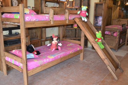 cuna funcional triple cama cucheta superpuesta mod tobogan