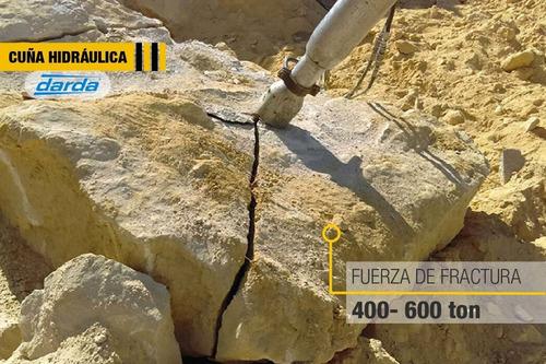 cuña hidráulica, partidor de roca, demolición de concreto
