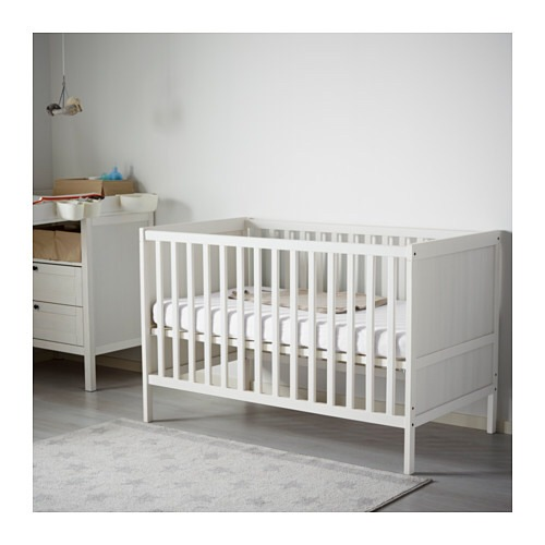 Cuna Ikea Sundvik 3 En 1 Color Blanco