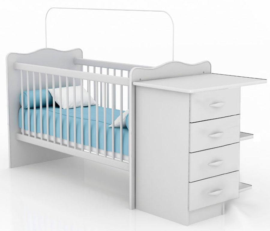 Cuna infantil con cambiador cajonera y estantes beb s - Cunitas para bebe ...