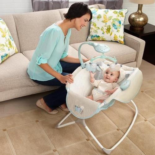 cuna mecedora musical bebe infantil con movil ingenuity
