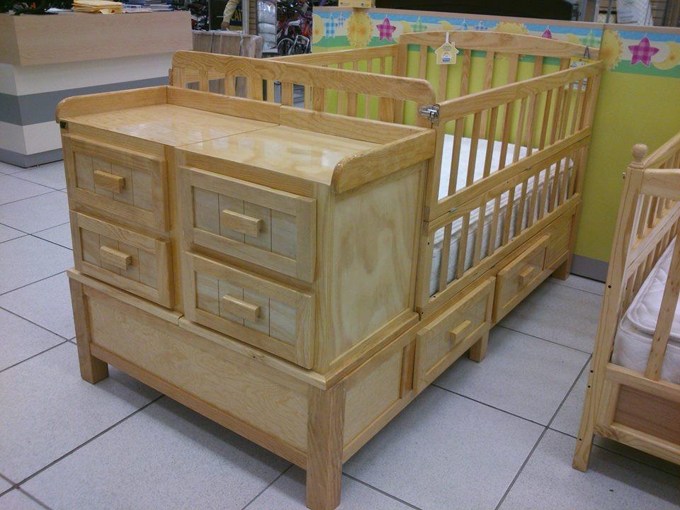 Cuna minimalista de madera 5 en mercado libre for Cunas para bebes de madera